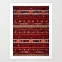 Efinity Pattern Red Art Print