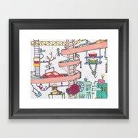 The Car Factory Framed Art Print