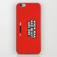 WHEN MAN AND BEST ARE ON… iPhone & iPod Skin