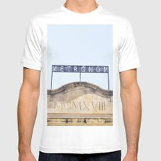Metronom SMALL White Mens Fitted Tee