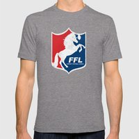 Fantasy Football League Mens Fitted Tee Tri-Grey SMALL