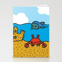 Fish and Crab Stationery Cards