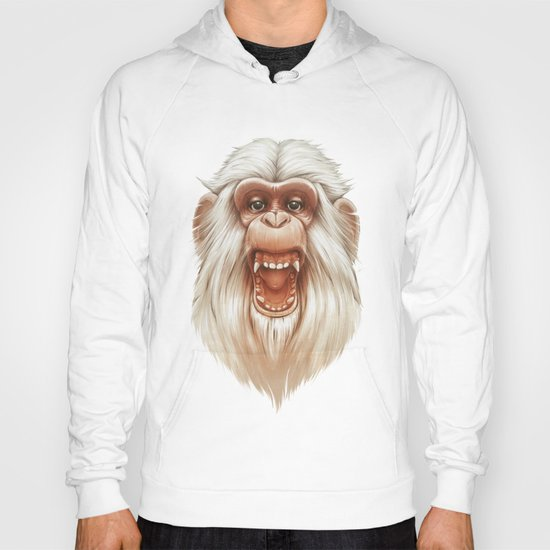 The White Angry Monkey Hoody