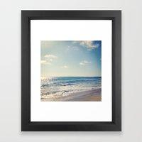 Soft Tide Framed Art Print