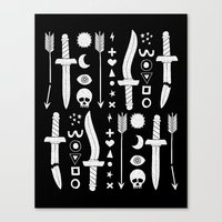 DUNGEON WEAPONS Canvas Print