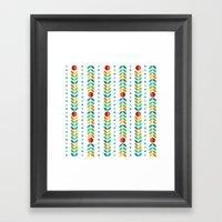 Simple flower Pattern Framed Art Print