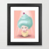 Miss Cupcake Framed Art Print