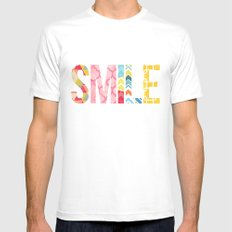 Smile SMALL Mens Fitted Tee White