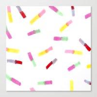 Happy Capsules Canvas Print