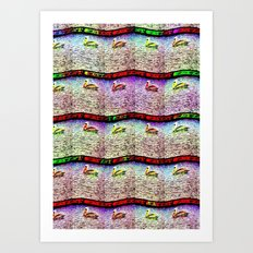 Pelican Pattern 2 (a) Art Print