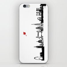 London City Skyline in black and white silhouette iPhone & iPod Skin