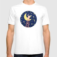 Starry Night Mens Fitted Tee White SMALL