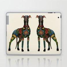 greyhound ivory Laptop & iPad Skin