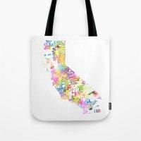 Typographic California -… Tote Bag