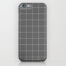 Grey and White Grid iPhone 6 Slim Case
