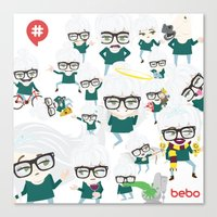 bebotestbag Canvas Print