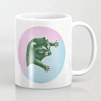 Climbing Raccoon Mug