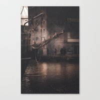 Working Dock Canvas Print