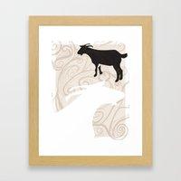 Farm Poster #1 -Goats Framed Art Print