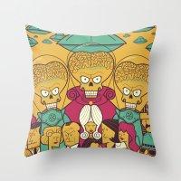 Mars Attacks! Throw Pillow