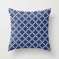 Pearl navy Throw Pillow