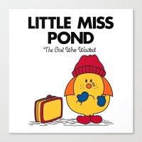 Little Miss Pond Canvas Print