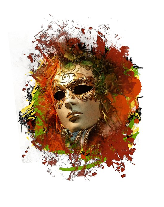 Mask 8 Art Print