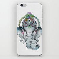 Ganesha Watercolor iPhone & iPod Skin