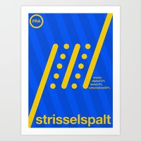 Strisselspalt Single Hop Art Print