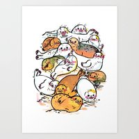 Seal family Art Print