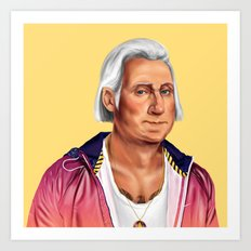 Hipstory -  George Washi… Art Print