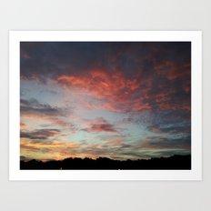 Speckled Sky Art Print