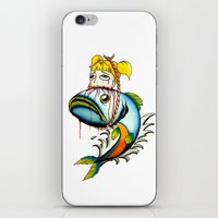 Fish With Girl Hat iPhone & iPod Skin
