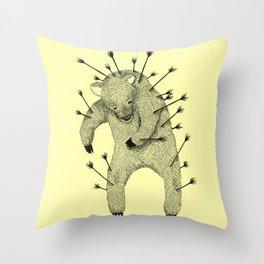 Throw Pillow - Life and Love (Yellow) - Tobe Fonseca