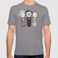Edgar Allan Hoes  Mens Fitted Tee Tri-Grey SMALL
