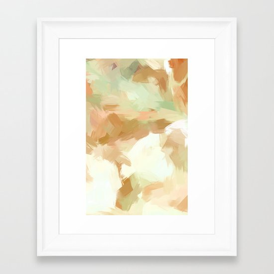 BLOSSOMS - COLORS III Framed Art Print