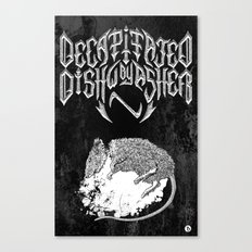 Decapitated by dishwasher II (black) Canvas Print