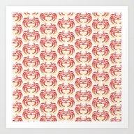 Pastel Marine Pattern 04 Art Print