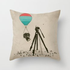 Supersize Cam Attraction Throw Pillow