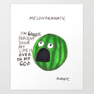 Art Print featuring Melondramatic by Rubyetc