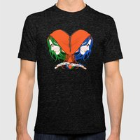 Clementine's Heart Mens Fitted Tee Tri-Black SMALL