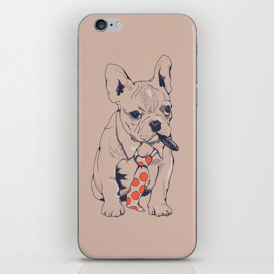 FRENCH BULLDOG BOSS iPhone & iPod Skin