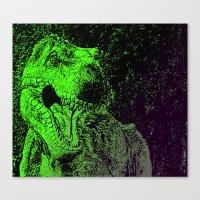 Flashy T-Rex  Canvas Print