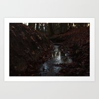 Red Stream Art Print