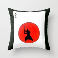 Japanese Bushido Way Of The Warrior Throw Pillow