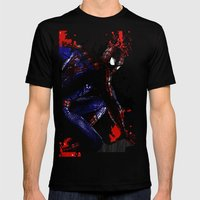 Spiderman in London Mens Fitted Tee Black SMALL