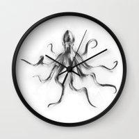 King Octopus Wall Clock