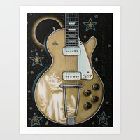 Goldfinger Gretsch Art Print