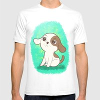 Lil Puppy Mens Fitted Tee White SMALL