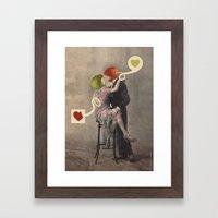 Loving Apple Framed Art Print